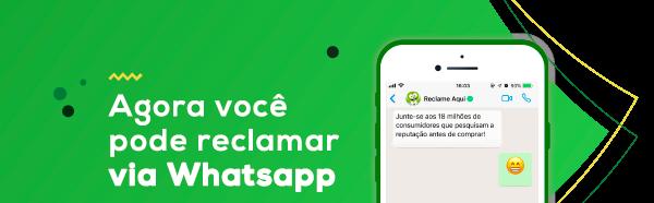 Agora você pode reclamar via Whatsapp
